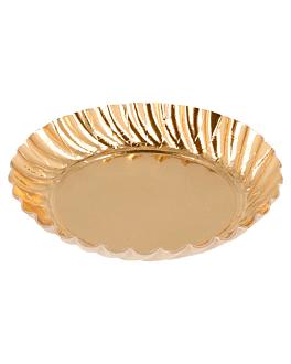 mini trays 325 g/m2 Ø 5,5 cm gold cardboard (100 unit)