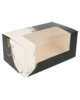 boÎtes pÂtisseries avec fenÊtre 275 g/m2 18x11x8 cm blanc carton (50 unitÉ)