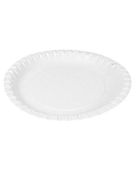 piatti goffrati pasticceria Ø 20 cm bianco cartone (100 unitÀ)