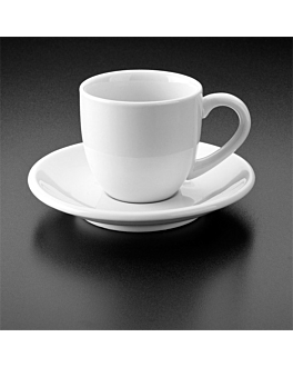 """small plates for cups """"atlantic"""" Ø 12,5 cm white porcelain (6 unit)"""