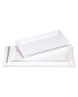 platos rectangulares 40,6x23 cm blanco porcelana (6 unid.)