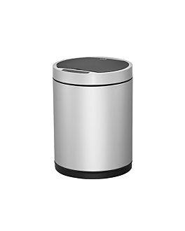 motion sensor trash can 50l Ø 32x70 cm silver stainless steel (1 unit)