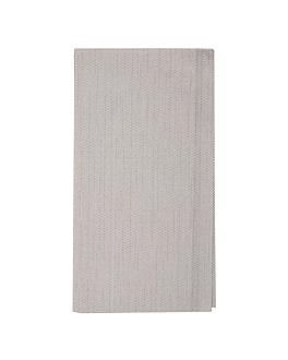 napkins 1/8 fold 'like linen' 70 gsm 40x40 cm grey spunlace (600 unit)