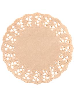dentelles rondes ajourÉes 40 g/m2 Ø 16,5 cm naturel kraft (250 unitÉ)