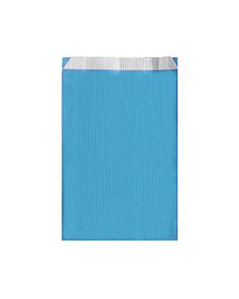 bolsas planas unicolor 60 g/m2 19+8x35 cm azul turquesa celulosa (250 unid.)