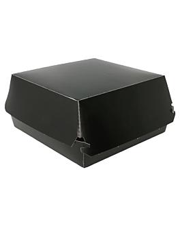 burger boxes jumbo 250 gsm 14x12,5x8 cm black cardboard (50 unit)