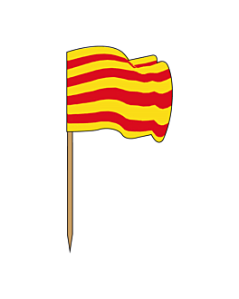 "flag picks ""catalonia"" 4x3/6,5 cm assorted wood (144 unit)"