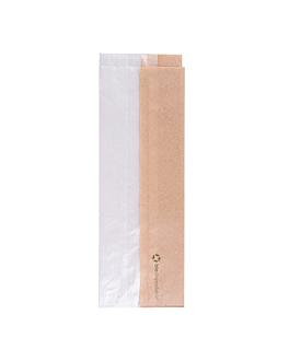 bolsas para sÁndwiches con ventana eco 'corner window' 40 g/m2 9+5,5x26 cm natural kraft (250 unid.)