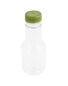 bottles with plastic cap 110 ml Ø4,5x11,4 cm clear pet (100 unit)