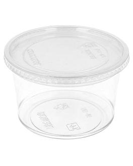 terrina + tampa 375 ml Ø11,7x6,1 cm transparente pet (250 unidade)