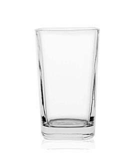 mini vaso cuadrado 3,5 oz 5,2x5,2x8,5 cm transparente cristal (72 unid.)