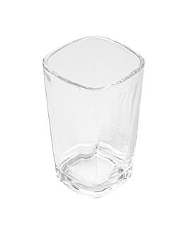 mini vetro quadrato 3,5 oz 5,2x5,2x8,5 cm trasparente cristal (72 unitÀ)