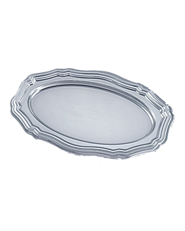 "de luxe trays - design ""luis xv"" 30x45 cm silver pet (5 unit)"