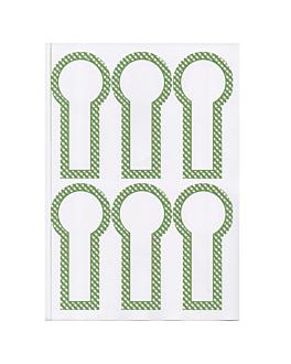 100 hojas din a4 6 etiquetas alargadas Ø 6x12,5 cm blanco papel (1 unid.)