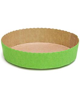 moules cuisson patisserie Ø 15,5x3,5 cm vert papier (270 unitÉ)