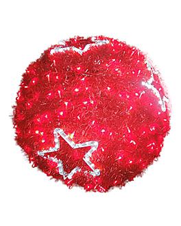 bola gigante 360 leds Ø 80 cm rojo (1 unid.)
