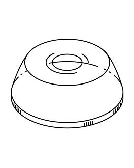 dome lids with hole for codes 195.52/53 Ø 9,5 cm clear pet (1000 unit)