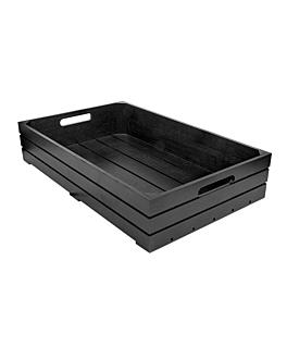 buffet box gn 1/1 53x32,5x10 cm black bamboo (1 unit)