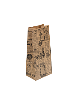 sos bags without handles 'times' 80 gsm 15+10x32 cm natural kraft (1000 unit)