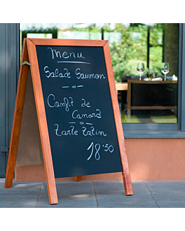 a-frame blackboard 2 sides 65x80x115 cm black wood (1 unit)