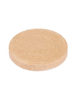 lids for small containers 230 + 18 pe gsm Ø6,2 cm brown cardboard (1000 unit)
