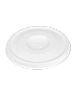 lids for cups 8cm 'bionic' Ø 80 mm white bagasse (1000 unit)