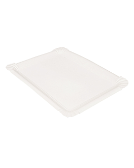 vassoi pasticceria - medi 25x17,5 cm bianco cartone (250 unitÀ)