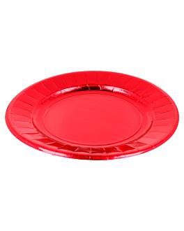 pratos 310 g/m2 Ø23 cm encarnado cartÃo (250 unidade)