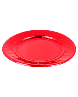plates 310 g/m2 Ø23 cm red cardboard (250 unit)
