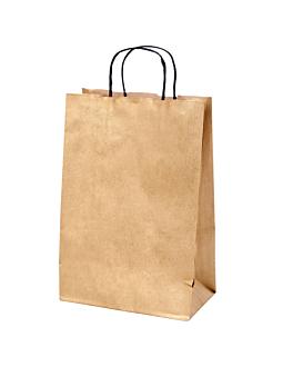 sacos sos com asas 2 garrafas 100 g/m2 18+10x39 cm dourado kraft (250 unidade)