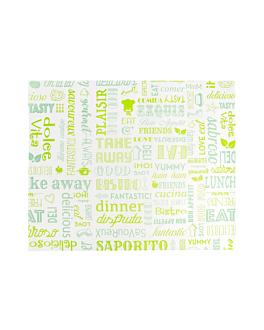 emballages basket 'parole' 32 g/m2 31x38 cm vert parch.ingraissable (4000 unitÉ)