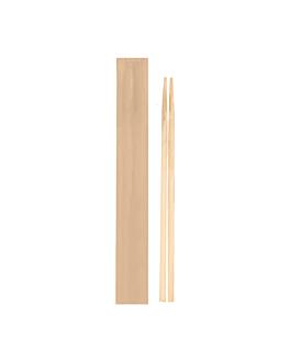 pauzinhos chineses embalados kraft 20 cm natural bambÚ (100 unidade)
