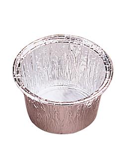 recipientes pastelerÍa 120 ml Ø 8,5/7,6x3,9 cm aluminio (100 unid.)