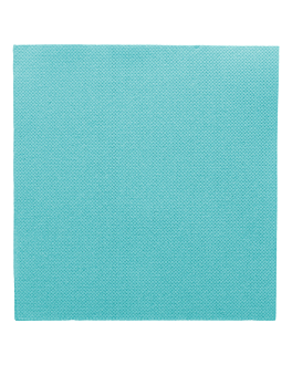 tovaglioli ecolabel 'double point' 18 g/m2 33x33 cm blu turchese tissue (1200 unitÀ)