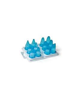 bicos decoradores 12 peÇas  azul celeste policarbonato (1 unidade)