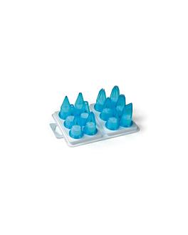 piping nozzles 12 pieces  sky blue polycarbonate (1 unit)