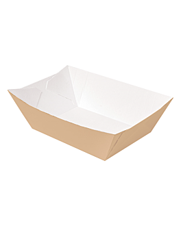 containers 'thepack' 1200 g 220 gsm 11,9x7,9x5,5 cm natural nano-micro corrugated cardboard (1000 unit)