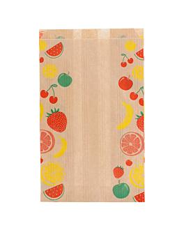 sachets plats pour fruits 1/2 kg 32 g/m2 14+9x22 cm naturel kraft (500 unitÉ)