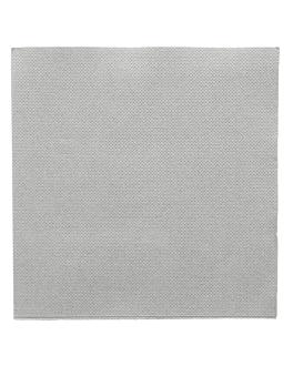 serviettes ecolabel 'double point' 18 g/m2 33x33 cm gris ouate (1200 unitÉ)