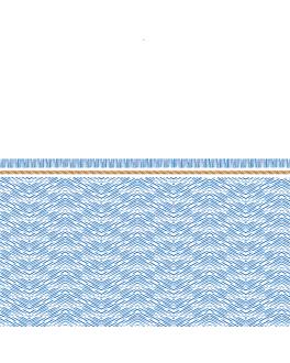tovallons 'like linen - azur' 70 g/m2 40x40 cm blanc/blau spunlace (600 unitat)