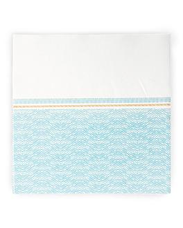 serviettes 'like linen - azur' 70 g/m2 40x40 cm blanc/bleu spunlace (600 unitÉ)