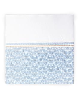 servilletas 'like linen - azur' 70 g/m2 40x40 cm blanco/azul spunlace (600 unid.)