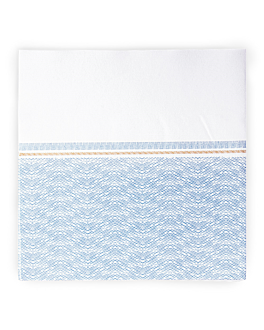 napkins 'like linen - azur' 70 gsm 40x40 cm white/blue spunlace (600 unit)