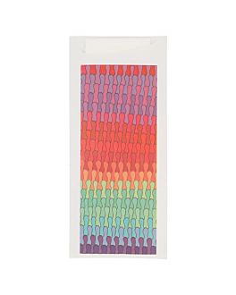 cutlery sachets + napkin 'just in time - colorama' 90 + 10pe gsm 8,5x19,5 cm white airlaid (250 unit)