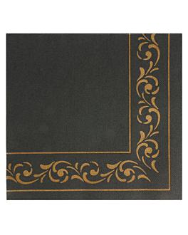 tovallons ecolabel 'double point - troya' 18 g/m2 40x40 cm negre tissue (1200 unitat)