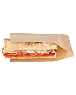 offene beutel spiesse, hot dogs 'open pack' 35 g/m2 + 10 peld 20x13/10 cm natur kraft (100 einheit)