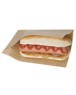 open bags for morsels, hot dogs 'open pack' 35 gsm + 10 peld 20x13/10 cm natural kraft (100 unit)