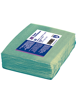 """25 u. wipes """"super perfokleen"""" 80 gsm 36x42,5 cm green viscose (1 unit)"""