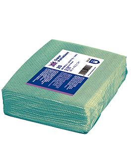 "25 u. lavettes ""super perfokleen"" 80 g/m2 36x42,5 cm vert viscose (1 unitÉ)"