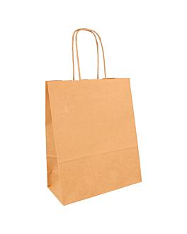 sacos sos com asas 80 g/m2 18+8x21,5 cm natural kraft (250 unidade)